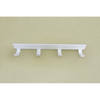 Крючки боковые на проволочный кронштейн 30 см VS32 (4 крючка) (белый)
