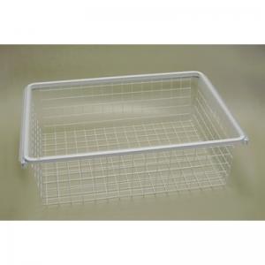 Рамка + корзина на 2 рельса шир. 60*44 см (белый)