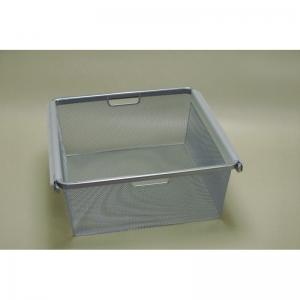 Рамка + корзина на 2 рельса шир. 45*44 см (платиновый)