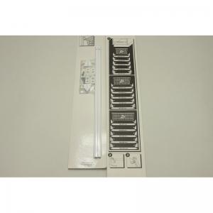 Универсальный рельс 44см (белый)