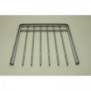 Выдвижная металлическая вешалка для брюк 45*44 (платиновая)